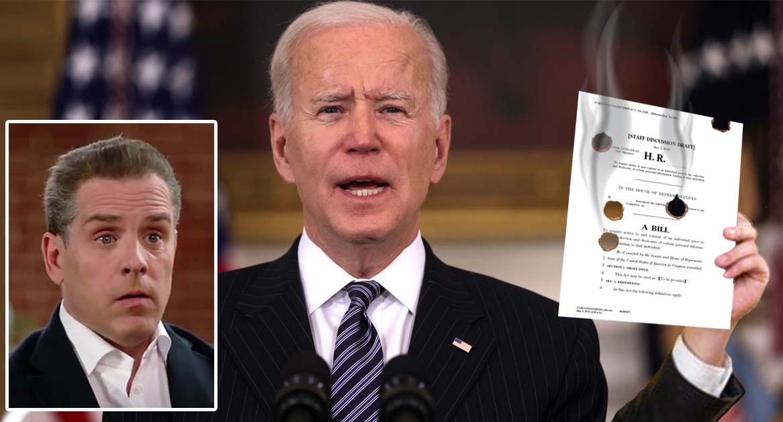 Hunter Biden Accidentally Discharges Weapon Through Father's Gun Control Bill