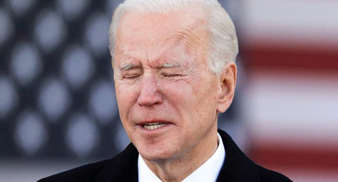 Biden Inspires Confidence In Vaccine By Softly Weeping Over Misplacing His Mask For Five Seconds