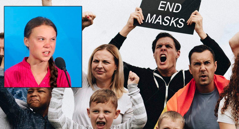 Republicans Demand All Children Be Unmasked Except Greta Thunberg