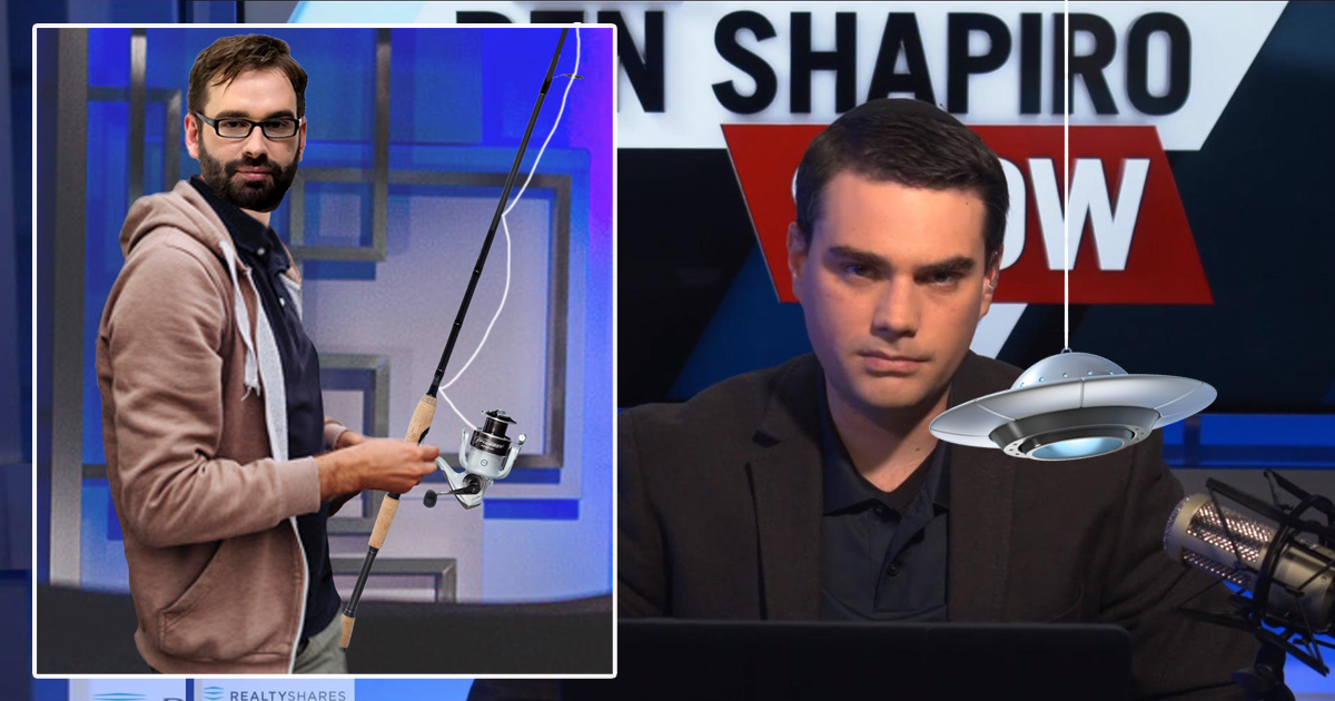 Matt Walsh Suspended For Repeatedly Dangling UFO In Front Of Shapiro Broadcast