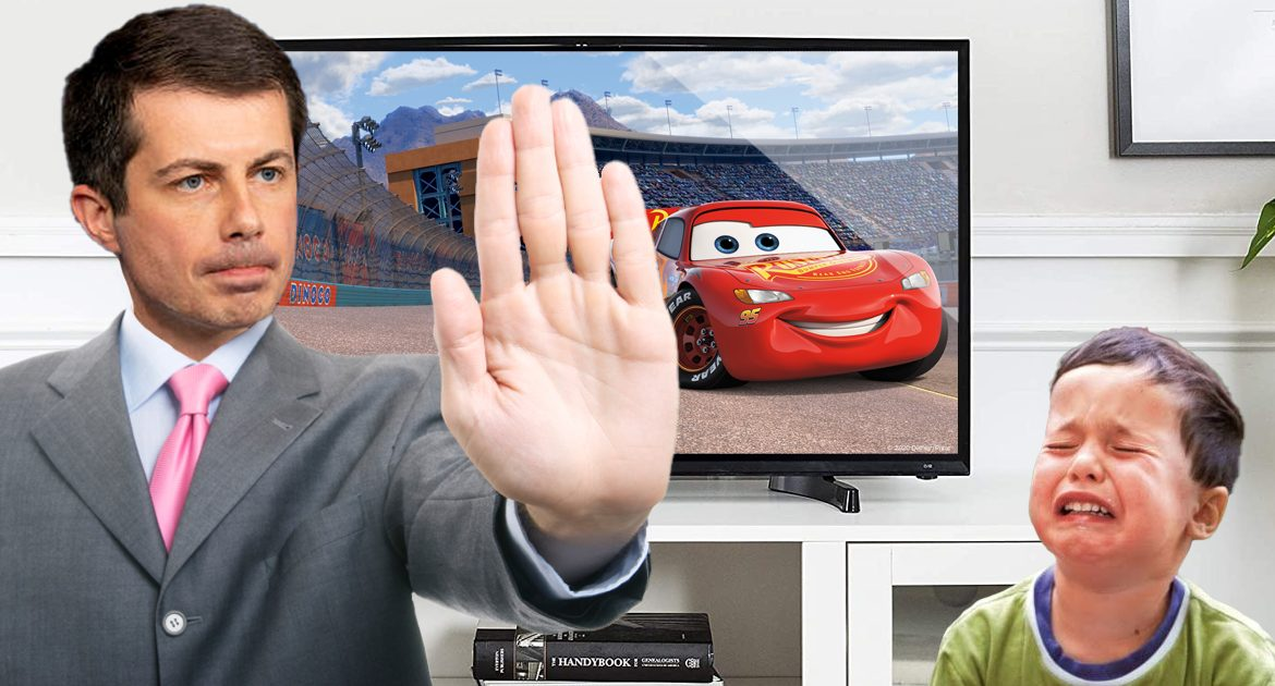 Pete Buttigieg Forbids All Viewings Of Pixar's Cars Until Gas Shortage Resolved