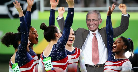 Dr. Fauci Added To US Gymnast Team After More Impressive Flipping And Flopping