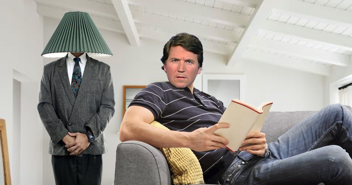 'Stop Being A Conspiracy Theorist' Whispers NSA Agent From Inside Tucker Carlson's Home