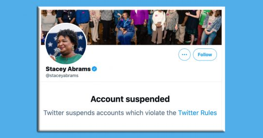 Stacey Abrams Banned For Misinformation After Tweeting 'I Fight For A Cause Bigger Than Myself'