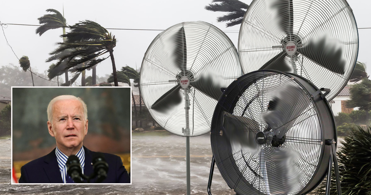 Biden Decides To Make Hurricane Winds More Powerful By Using Large, Industrial Fans