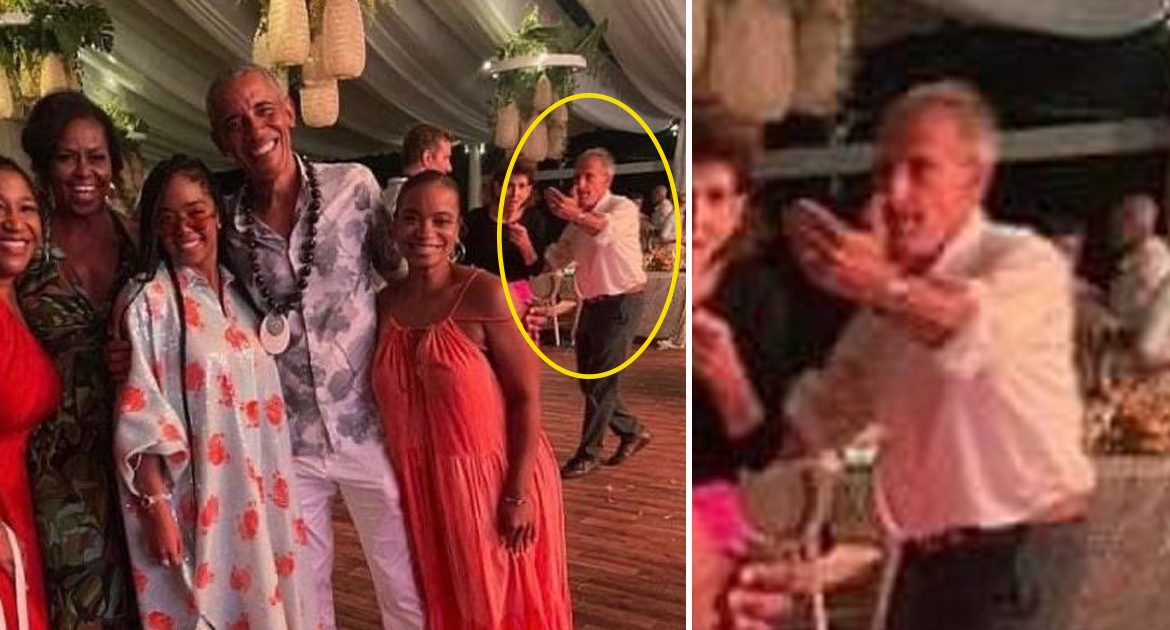 Unsafe: Jeffrey Epstein Spotted Not Wearing Mask At Obama Party