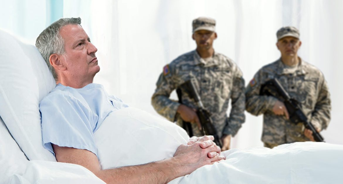 'I've Made A Huge Mistake' Whispers Bill De Blasio After National Guard Administers His Colonoscopy