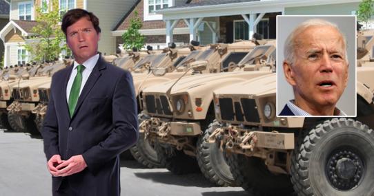 CNN Calls Tucker Carlson 'Taliban-Like', Biden Reflexively Gives Him $82 Billion In Military Equipment