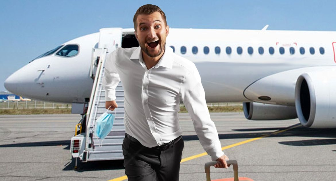 Travel Hack: Man Takes Off Mask The Second Plane Touches Ground So He's Made To Get Off First