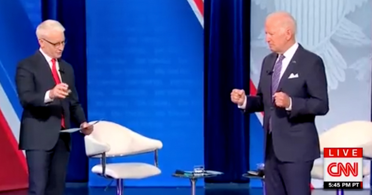 Biden Attempts Getaway With Imaginary Bus During Town Hall Q&A