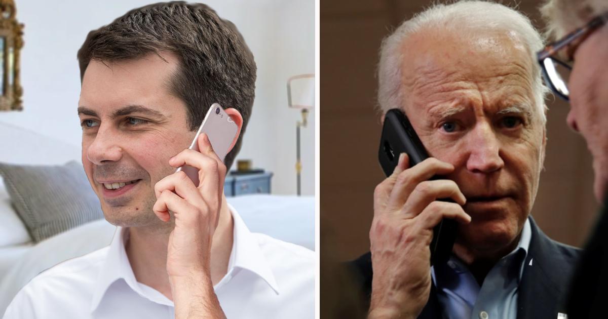 "Pete Buttigieg Asked To Stop Calling Biden And Whispering, ""Let's Go, Brandon"""