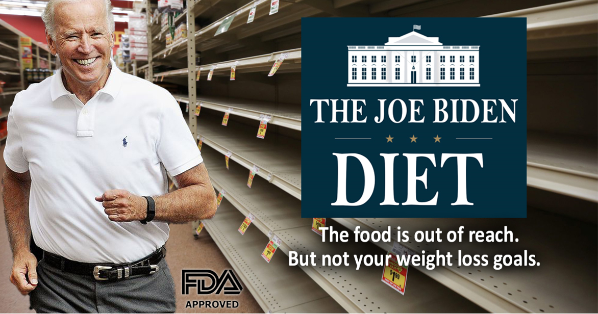 White House Spins Food Shortage As 'The Joe Biden Diet'